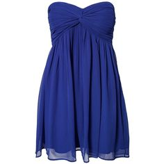 Nly Trend Short Dreamy Dress ($11) ❤ liked on Polyvore featuring dresses, vestidos, short dresses, robe, party dresses, cobolt blue, womens-fashion, bandeau dress, mini dress and short cocktail dresses