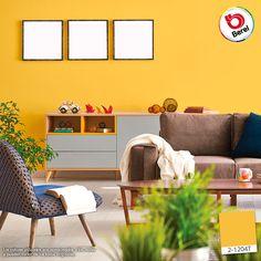 Las tonalidades amarillas estimulan la creatividad, propician la comunicación y generan calidadez ¡Aplícalos en zonas sociales, como la sala! #Decoracion #DIY #Color #hogar