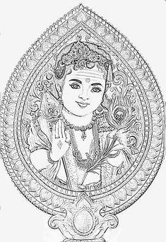 Ganesha Drawing, Ganesha Painting, Tanjore Painting, Indian Art Paintings, Nature Paintings, Outline Drawings, Art Drawings, Lord Murugan Wallpapers, Madhubani Art