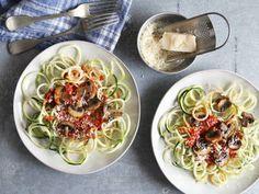 Zucchini Noodles With Mushroom Marinara Sauce