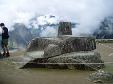 Machu Picchu - Wikipedia, the free encyclopedia. nti Watana is believed to have been designed as an astronomic clock or calendar by the Incas...