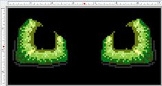 Green dragon eyes cross stitch PATTERN approx by JurassicStitches