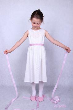 Elegantes Kleid aus italienischer Baumwolle Spitze von esQella auf DaWanda.com