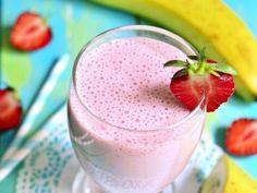 Licuado de Fresa, Plátano y Amaranto | Es una bebida que podría ayudarte a prevenir el cáncer, por su gran aporte de antioxidantes. Congela las frutas el día anterior y el amaranto en una bolsa de plástico, para que solo le agregues leche la mañana siguiente.
