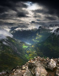 The Dalsnibba mountain, located in the municipality of Stranda in Møre og Romsdal county, Norway.