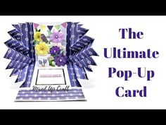 That's the best way to describe this style card. Known as an Explosion Pop-Up Card this amazing card is surprisingly straight-forward to make and will certainly make people smile. Fun Fold Cards, Folded Cards, 3d Cards, Card Making Tutorials, Making Ideas, Pop Up Box Cards, Craft Stash, Step Cards, Interactive Cards