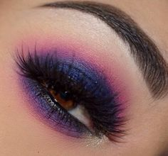Discover more about step by step makeup techniques Purple Eyeshadow Looks, Dramatic Eyeshadow, Purple Eye Makeup, Makeup For Brown Eyes, Makeup Art, Makeup Tips, Beauty Makeup, Makeup Ideas, Eyes Game