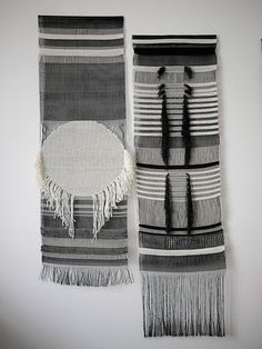Black and White weavings by Justine Ashbee