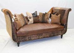 western leather settee | Western Home > Western Furniture > Old Hickory Tannery Furniture