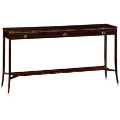 Jonathan Charles Soho Console with White Brass Detail