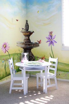 A garden fairy room for Elizabeth by Carmen Illustrates.