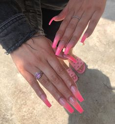 Good looking nails info number 6467381003 - look at these stunning, impressive design tip right now. Aycrlic Nails, Swag Nails, Pink Acrylic Nails, Fire Nails, Coffin Nails Long, Dream Nails, Birthday Nails, Trendy Nails, Nails Inspiration