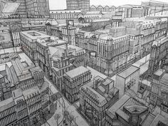Amazing bit of #cityscape #axonometric #illustration by Vincent Lelièvre (@vincent.lelievre.artist) which provides us with a #birdseyeview of an unknown #city. Beautifully rendered #architecture marvelously #accurate and straight lines and so much #intricate detail I sort of wish I could go walk around in it.  Im sure if Vincent had a #pen that was fine enough he probably would have included #interior details in the #buildings too. Like you could zoom in on one of the windows and see…