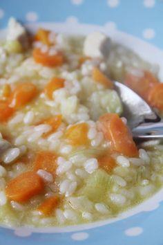 Cómo hacer arroz con pollo para bebés y niños