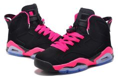 098da3d6d0a613 Women New Air Jordan 6 (VI) Retro GS Black Fusion Pink For Sale