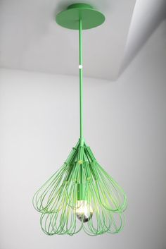 Wire whisks to the rescue. no more bulb hanging from wire in the warehouse! Decor, Contemporary Modern Furniture, Lighting Design, Creative Walls, Lights, Repurposed Furniture, Light, Diy Lighting, Fashion Lighting