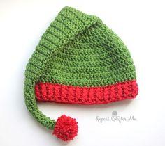 Crochet Elf Hat Pattern | Repeat Crafter Me | Bloglovin'