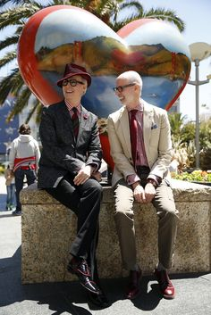 DOUBLE DAPPER | SF CHRONICLE ''San Francisco's famous Brown twins, Vivian and Marian, who spent 40 years as iconic fashion figures around town before passing away in their 80s, may be gone, but they are not the only identical twins to have engendered double takes under the palms of Post and Powell streets.  The dandy of New York, Patrick McDonald, and his brother, Michael, have taken up residence on Nob Hill […]''