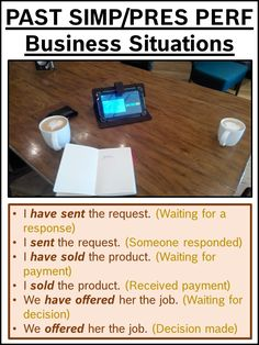 PAST SIMPLE Vs PRESENT PERFECT Business Situations
