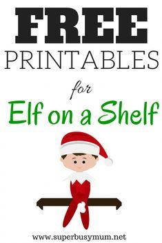A selection of fun free Elf on a Shelf printables for you to use over Christmas. Elf On Shelf Letter, Elf On The Shelf, Elf Letters, A Shelf, The Elf, Shelves, Letter From Elf, Elf On Shelf Printables, Free Printables