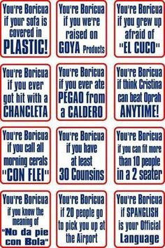 You know you're Boricua if…