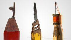 Espectacular!!! artista talla una diversos objetos en la mina de un lápiz. IMPRESIONANTE!!!