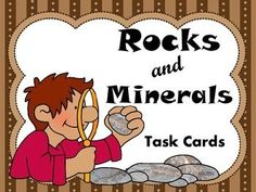Rocks and Mineral, task cards, grades 3-5, White's Workshop