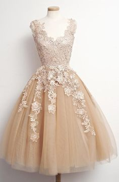 Short Prom Dresses, Champagne Prom Dresses, Prom Dresses Short, Discount Prom Dresses, Prom Short Dresses, Tulle Prom Dresses, Applique Prom Dresses, Mini Prom Dresses