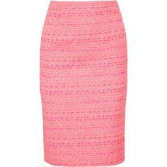 Giambattista Valli Tweed Pencil Skirt ($1,150) ❤ liked on Polyvore