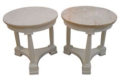 Marble-Top Side Tables, Pair on OneKingsLane.com