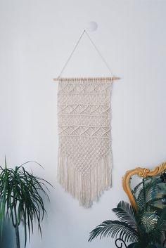 Handmade macrame wall hanging, Home Decor, Love Knot, Home Decor tapestry, fiber art weaving textile art, gift idea, tissage mural, tapestry