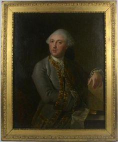 """Ecole Française XVIIIème siècle """"Portrait en buste de Louis RIPAULT DESORMEAUX ((1724-1793)"""