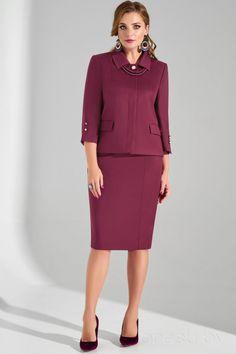 Ladies Suits, Suits For Women, Peplum Dress, Look, Burgundy, Plus Size, Costumes, Elegant, Dresses