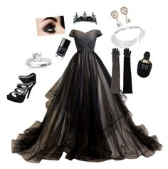 """""""The Dark Cinderella"""" by elisa9589 ❤ liked on Polyvore featuring art"""