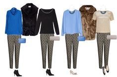 Christmas Capsule Wardrobe - budget friendly, four looks with jacquard trousers