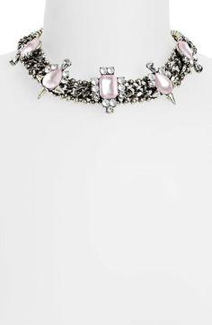Party Favorite - Embellished Collar Necklace