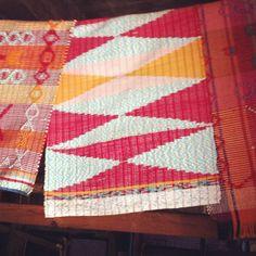mantas de fitas __ Portuguese Textiles __ photo by Rosa Pomar, on Flickr