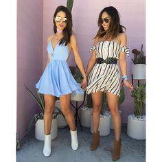 Having the best time at #coachella with my love @songofstyle (more on snap) We are both in @revolve dresses! #revolvefestival ------ Me divertindo muito no Coachella com minha querida Aimee!!! (Veja no snap) Nossos vestidos são @revolve !