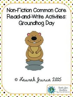 FREE close reading and writing activity for Groundhog Day!