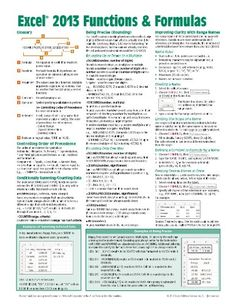 Microsoft Excel 2013 Functions & Formulas Quick Reference Card (4-page Cheat Sheet focusing on examples and context for intermediate-to-advanced functions and formulas- Laminated Guide) by Beezix Inc.