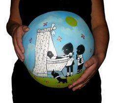 Bellypaint buikschilderingen gemaakt door Hilde de Wit