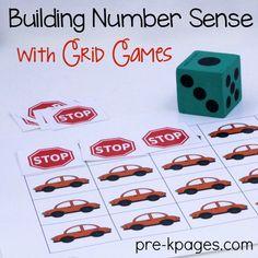 Printable Transportation Grid Game for Preschool