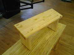 glue laminated strip pine meditaion stool