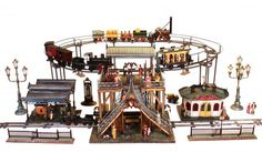 Marklin Elevated Station with accessories c. 1900   Source: Holiday Express: Toys and Trains from the Jerni Collection | New-York Historical Society