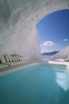Natural pool ~ Katikies The Hotel ~ Oia, Santorini, Greece