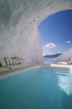 Natural pool ~ Katikies The Hotel ~ Oia, Santorini, Greece