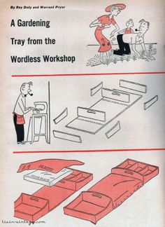 wordless workshop / 1950s garden tray how to / vintage diy / vintage what to make magazine by popular machanic