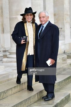 Prince Michel de Grece and Princess Marina de Grece attend the Wedding of Prince Jean-Christophe Napoleon and Olympia Von Arco-Zinneberg at Les Invalides on October 19, 2019 in Paris, France. (Photo by Luc Castel/Getty Images)