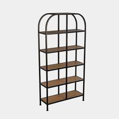 Huntley Bookcase– Shoppe Amber Interiors Amber Interiors, Metal Finishes, Extra Storage, Decorative Items, Room Inspiration, Teak, Bookcase, Shelves, Organization
