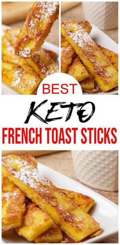 BEST Keto French Toast Sticks – Low Carb Keto French Toast Recipe – 90 Second Microwave Bread For Easy Ketogenic Diet French Toast – Special Recipes For Easter Keto Foods, Ketogenic Recipes, Keto Snacks, Keto Recipes, Chili Recipes, Microwave Bread, Sugar Free Baking, French Toast Sticks, Keto Side Dishes